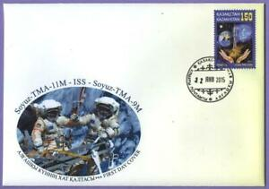Kazakhstan 2015. FDC. The Olympic Torch in Space. Olympic Games in Sochi 2014