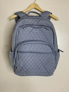 Vera Bradley Quilted Essential Backpack Carbon Gray Computer pocket