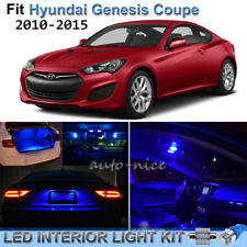 For 2010-2015 Hyundai Genesis Coupe Brilliant Blue LED Interior Lights Kit 9PCS