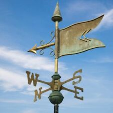 More details for banner weathervane - handcrafted pure copper traditional verdigris weather vane