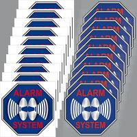10 +10 sticker Blue 2in Alarm System Warning for inside window