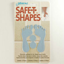 Safe-T-Shapes Blue Feet Non-Slip Safety Applique Decal Stickers Bath Tub Shower