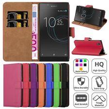 Sony Xperia L1 Case, Premium Cuero Billetera a presión Funda cubierta soporte de libros
