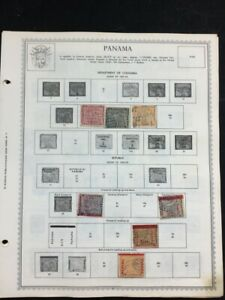 TCStamps 14x Pages BEAUTIFUL VERY OLD  Panama Postage Stamps #761
