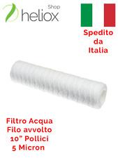 """25 Filtri Cartucce Sedimenti da 5 Micron 10/"""" Depuratore Addolcitore Acqua Stock"""