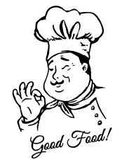 Good Food Chef 748 - Vinyl Sticker / Decal - Custom Made to Order