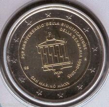 """San Marin 2015 """" 2ª """" Porte-documents officiel 2 Euros """" Réunification Allemagne"""