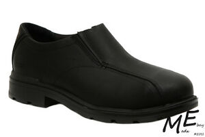 New Timberland PRO CALIPER SLIP-ON Alloy Toe Leather Men Work Shoes Sz9 - 88576
