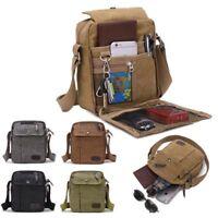 Travel Canvas Women Men Unisex Casual Messenger Crossbody Shoulder Bags Handbag