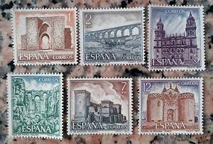 España año 1977 Serie Turística edifil 2417/2422 Nuevos con goma