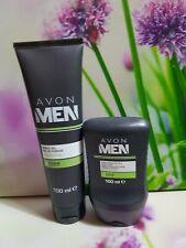 AVON MEN SENSITIVE SHAVE GEL AND 2 IN1 AFTERSHAVE BALM ACTIVE FOR MEN IDEAL GIFT