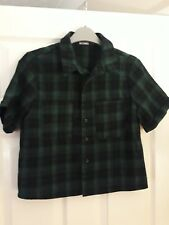 Missguided Blouse Shirt. Green Black. UK8. Good condition