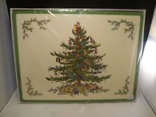 VINTAGE SEALED NEW Set of 4 Spode Christmas Tree Placemats in Box  MINT ENGLAND