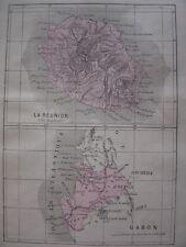 Petites CARTES de 1880 COCHINCHINE La Réunion Ile Bourbon GABON