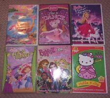 Lot of 6 DVD ~ BARBIE + ANGELINA BALLERINA + BRATZ + MORE
