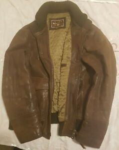 Mens Marlboro Classics Leather Jacket XXL. Brown. Vintage. Goatskin