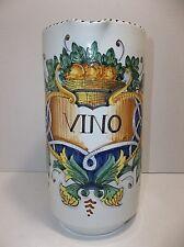 Italian Majolica La Piccola Bottega WINE PITCHER Signed