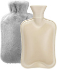 Hot Water Bottle with Soft Cover (2 Liter) Classic Rubber Hot Water Bag for Cram