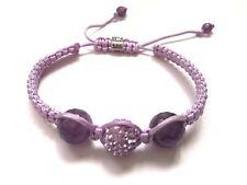 • crystal & amethyst ball purple bracelet 🇮🇹