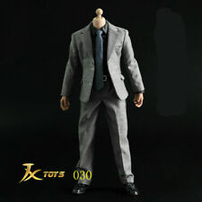 JXTOYS 1/6th Male Figure Clothes Suit Set Accessories Dark Gray Model Toys JX030