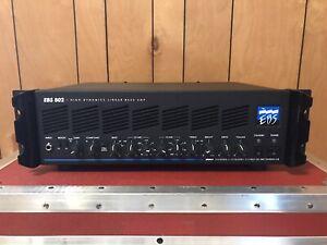 EBS 802 Bass guitar amplifier rack head amp open box class A/B made in Sweden
