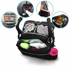 Baby Care 5 In 1 Insulated Stroller Bag Backseat Organizer Cooler Accessory Aid