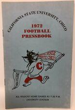 1972 California State University, Chico Football Pressbook Wildcats Media Guide