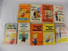 DENNIS THE MENACE CARTOON COMIC VINTAGE PB BOOK LOT 9 BY HANK KETCHAM- 60s 70s