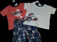 Gymboree clothes bundle 4T boy t shirt shorts Summer Beach lobster lot