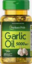 Puritan's Pride Garlic Oil 5000 mg - 100 Rapid Release Softgels
