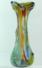 FLOWERS VASE-VINTAGE,  GLASS MADE 1970's ART GLASS