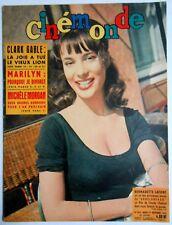 ►CINE MONDE 1372/1960-LAFONT-MARILYN MONROE-CLARK GABLE-LIZ TAYLOR-JOHN WAYNE...