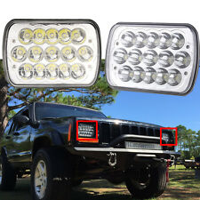 "7x6""inch LED Headlights 27450C Of Rectangular 5X7 GM Ford Van Jeep XJ YJ Pair"
