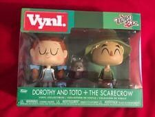 NIB Funko Vynl Wizard of Oz Dorothy Toto + the Scarecrow Vinyl Figures
