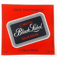 Carling Black Label Beer Biere Bottle Label Carling O'Keefe Breweries Canada