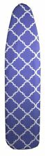 "Sunbeam Lovely Lattice 15"" x 54"" Cotton Ironing Board Cover, Blue - Ib45672"