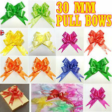 50 Colourful Ribbon Bows assorted colour easy pull flower ribbon party decor UK