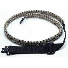 """Adjustable Paracord Gun Sling Strap with 1"""" 2pcs Swivels for Hunting Shooting"""