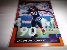 "JADEVEON CLOWNEY, TEXANS==2017 DONRUSS ""90"" #197, SHORT PRINT 37 OF 90"