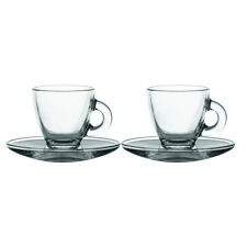 Ravenhead Entertain Espresso Cups and Saucers Glass Clear 80 Ml Set of 2