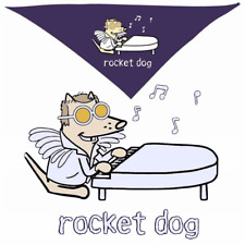Teddy the Dog Doggie Bandana Rocket Dog Elton John Cartoon Purple Scarf OSFA NWT