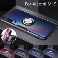 Ring Holder Hybrid Hard Clear Case Cover For Xiaomi Mi 9 8 Lite Redmi Note 7 Pro