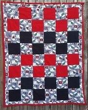 Red and Black Polar Bear Christmas Quilt