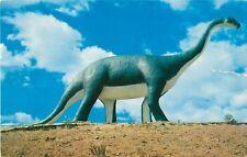 1950s Brontosaurus Statue, Dinosaur Park, Rapid City, South Dakota Postcard