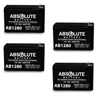 NEW 4 PACK 12V 8AH AB1280 Battery Replacement for Energy Power EP-SLA 12-18B1.