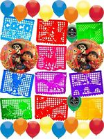 Coco Party Supplies Balloon Room Decoration Papel Picado Banner Decorating Bu...