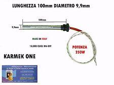 CANDELETTA RESISTENZA X STUFA PELLET 9,9 x100 - 250W RACC 3/8 KARMEK ONE ECC