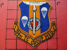 ORIGINAL AIR FORCE PILOT SQUADRON PATCH USAF 314 TCG TROOP CARRIER GROUP MEDIUM