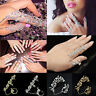 Punk Rock Gothic Gold Silver Double Full Finger Knuckle Armor Ring Jewelry