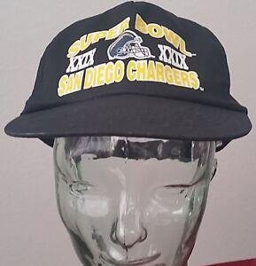 Vintage San Diego Chargers Super Bowl XXIX Baseball Cap, One Size, Black